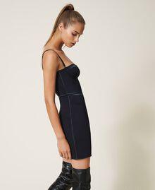 Scuba bustier dress Black Woman 202LL2MBB-02