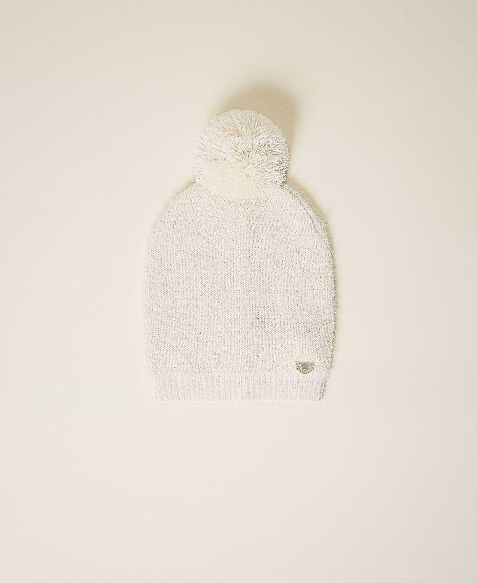Mottled knit hat Ivory Woman 202LI4ZRR-01