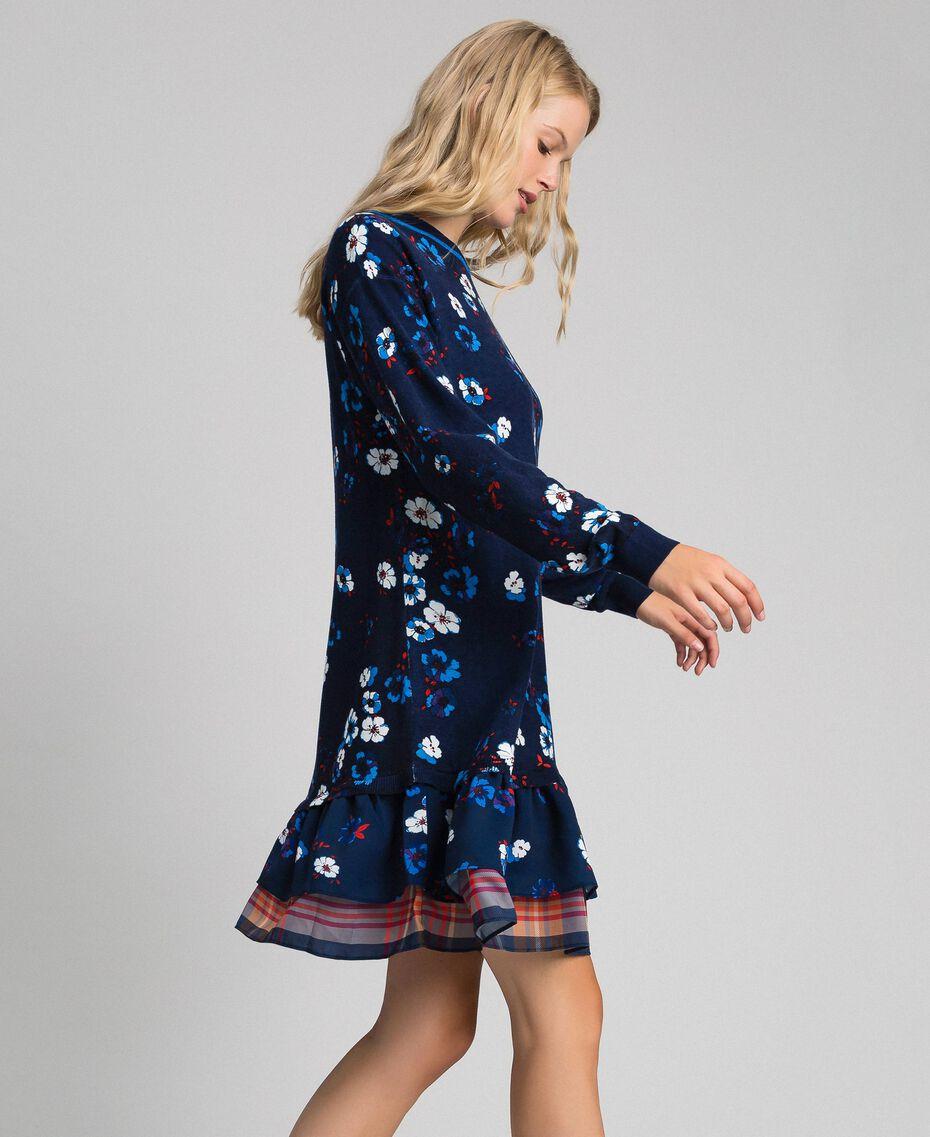 Robe avec imprimé floral et volant Imprimé «Petite Fleur» Indigo Femme 192MT3271-02
