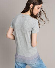 T-shirt avec volants en tulle plissé Multicolore Tulle Femme 191MP2230-04
