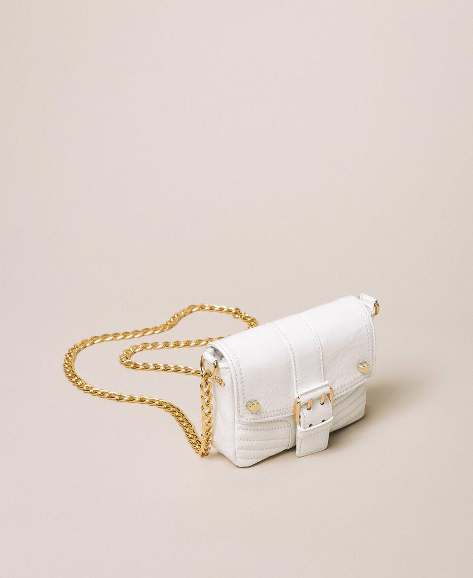 Petit sac à bandoulière Rebel en cuir Blanc Neige Femme 201TO823T-02
