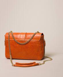 Medium Rebel leather shoulder bag Titanium Gray Woman 999TA7233-02
