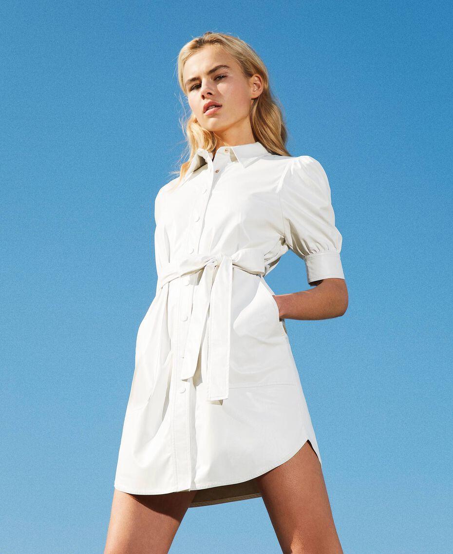 Shirt dress with belt White Snow Woman 211TT2020-01