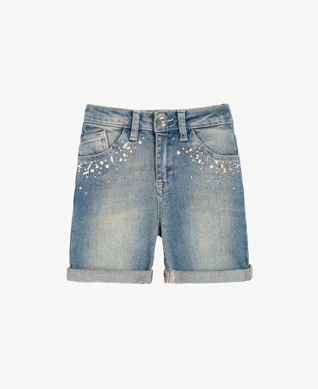 "Denim shorts ""Mid Denim"" Blue Child FS82T2-01"