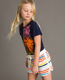Multicolour striped shorts Multicolour Striping Child 191GJ2222-02