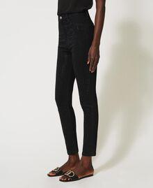 Jean skinny avec cristaux Noir Femme 211TT2320-03