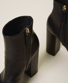 Platform leather ankle boots Black Woman 202TCP152-04