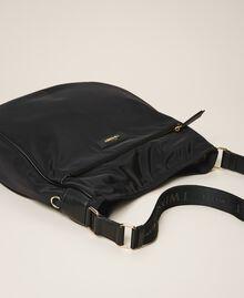 Technical satin hobo bag Black Woman 202TD8080-02