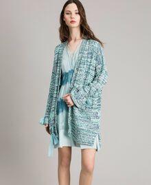"""Maxi cardigan avec rubans Multicolore Fantaisie Bleu """"Mikonos"""" Femme 191TP3280-02"""