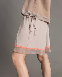 """Shorts in popeline con inserti in rete Grigio """"Grey Dust"""" Donna 191LL23SS-05"""