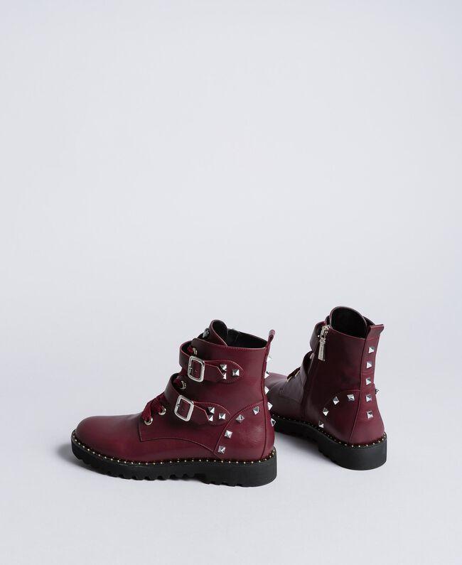 Boots en similicuir Bordeaux Femme DA8PJA-03