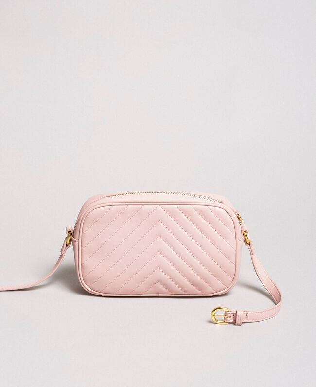 Matelassé leather shoulder bag Pink Pearl Woman 191TA7195-04