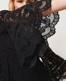 Robe en dentelle macramé Noir Femme 211LM2KJJ-05