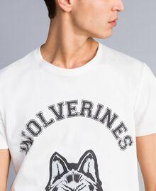 T-shirt en coton avec imprimé Nacre Homme UA82GB-04