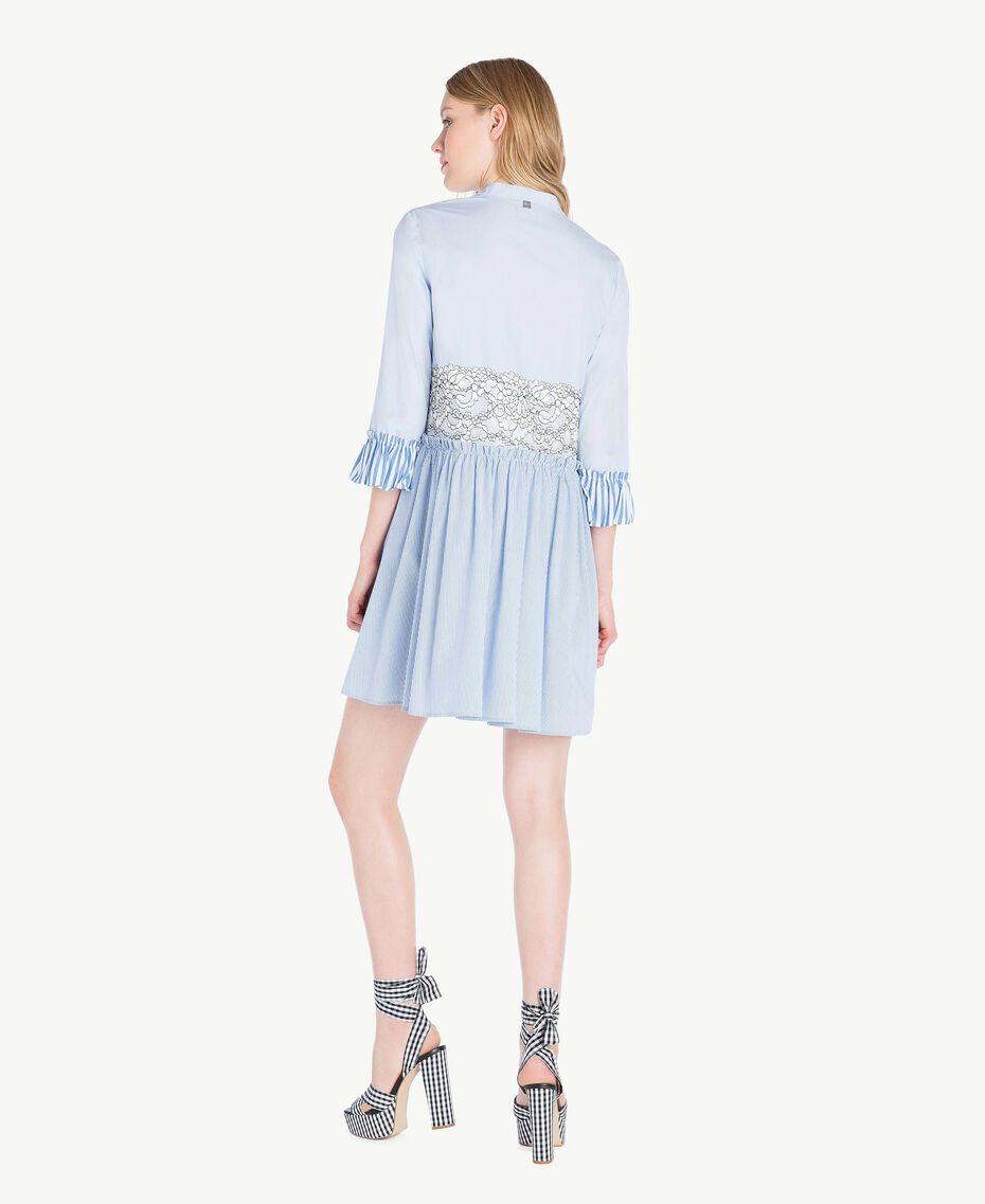 Robe chemisier dentelle Topaze Bleu Femme JS82D5-03