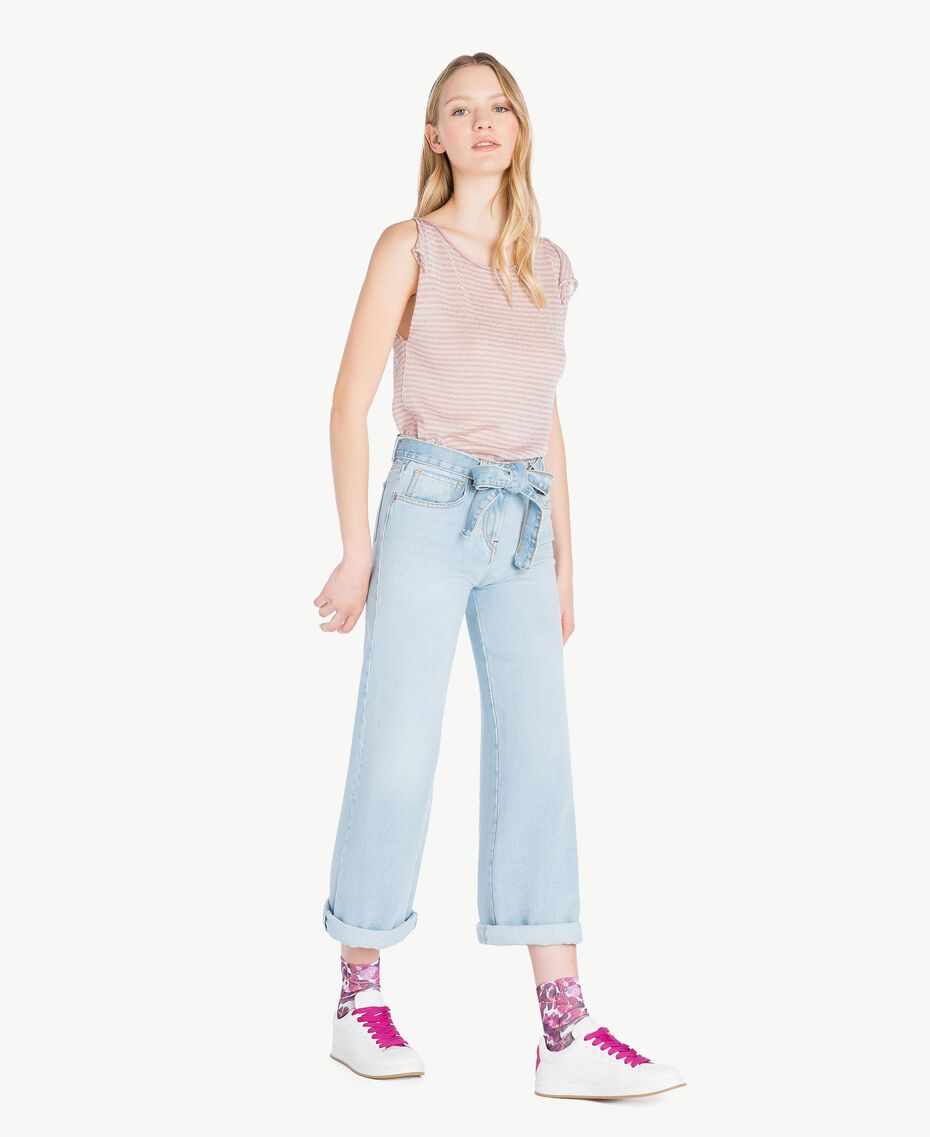 "Flower socks ""Doll"" Fuchsia / ""Hydrangea"" Pink Flower Print Woman AS8P6A-02"