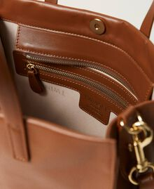 Twinset Bag leather shopper Leather Brown Woman 211TD8041-04