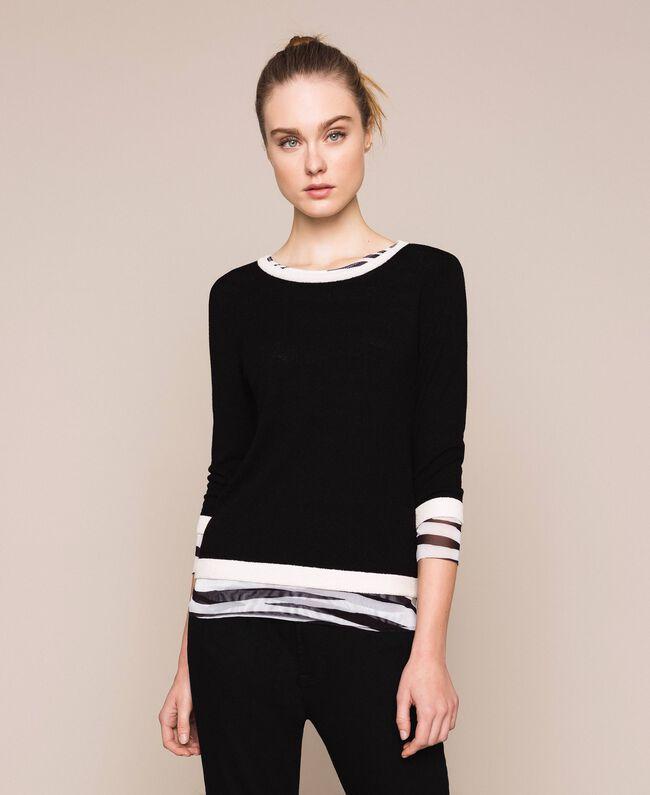 Slim fit jumper Black Woman 201TQ3050-01