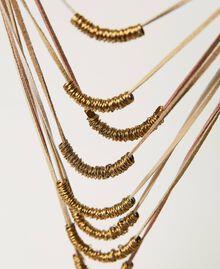 Collana multifilo con perline in metallo Multicolor Nastri Ottone Invecchiato Donna 211TO501G-02