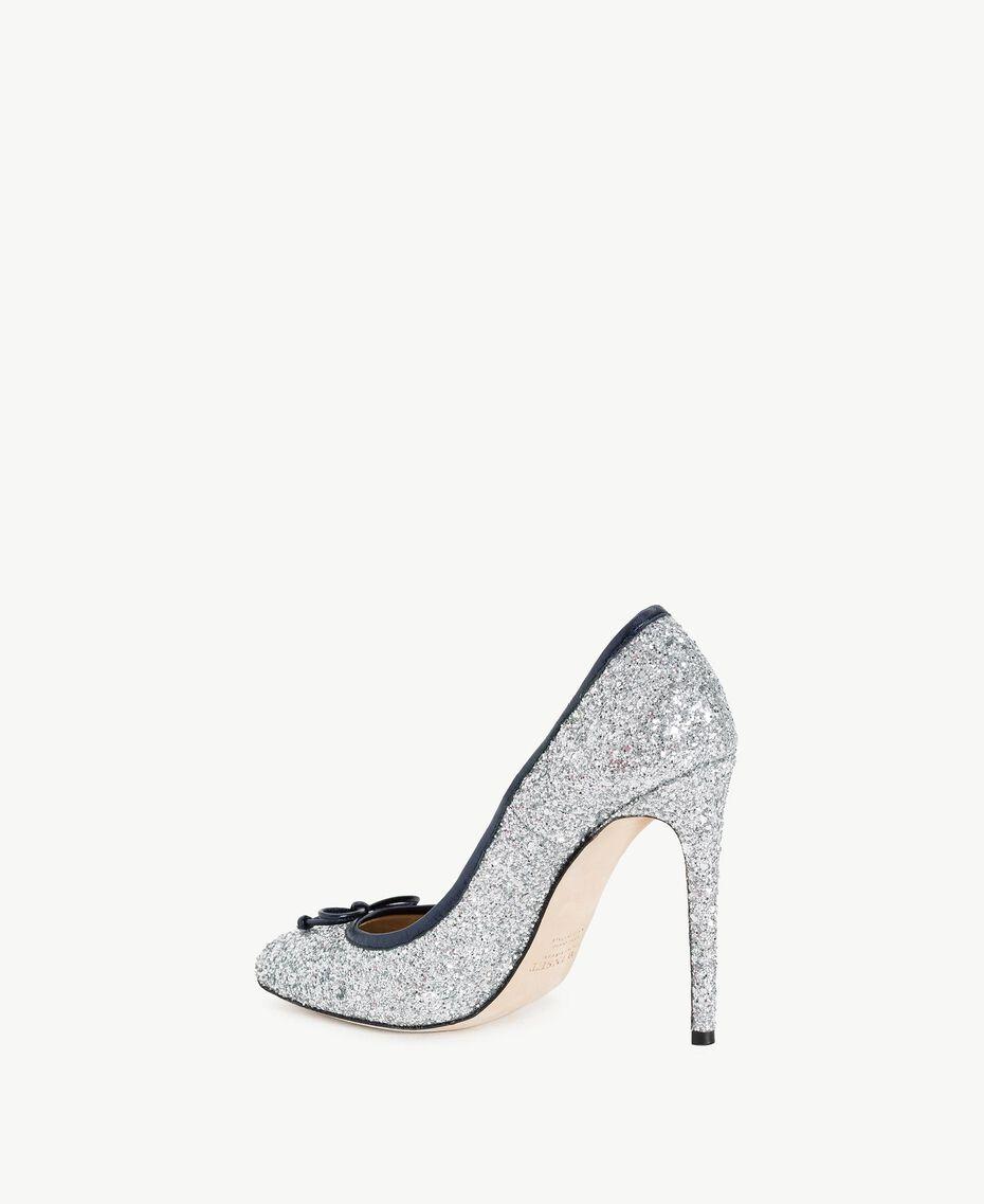 TWINSET Glitter court shoes Silver Woman CS8PLE-03