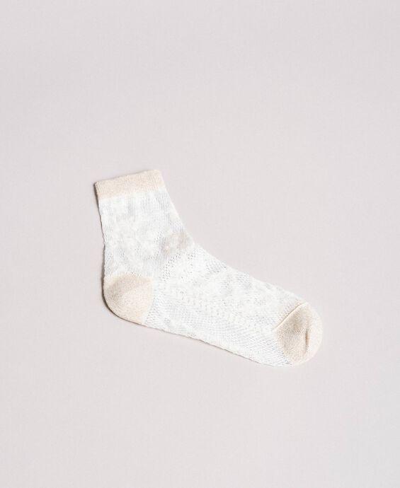 Chaussettes en laine lurex
