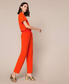 "Georgette jumpsuit ""Ace"" Orange Woman 201LL2NBB-01"