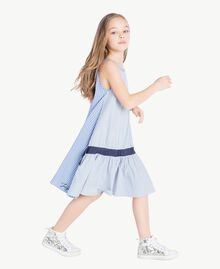 Kleid mit Streifen Jacquard Mix Bastoncini Kind GS82L2-03