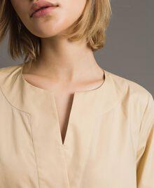 """Popeline-Kleid mit Stickerei """"Marzipan"""" Beige Frau 191TT2242-05"""