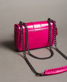Rebel leather shoulder bag Fuxia Woman 191TO7237-04