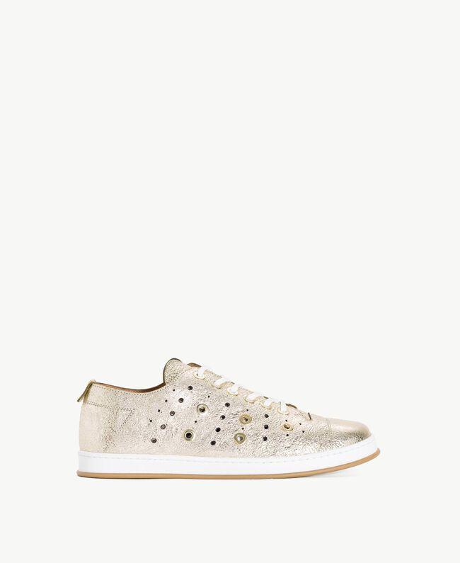 TWINSET Laminated sneakers Platinum Woman CS8PJE-01