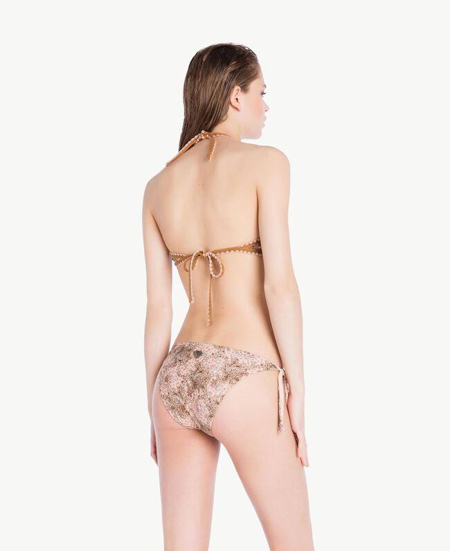 Bikini-Tanga mit Print Paisleyprint Vegas Pink Frau BS8G33-04