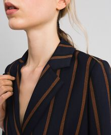 Double breasted pin stripe blazer Night Blue Striped / Red Earth Woman 192ST2230-04