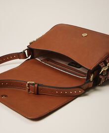 Shoulder bag with straps Leather Brown Woman 202MA7043-06