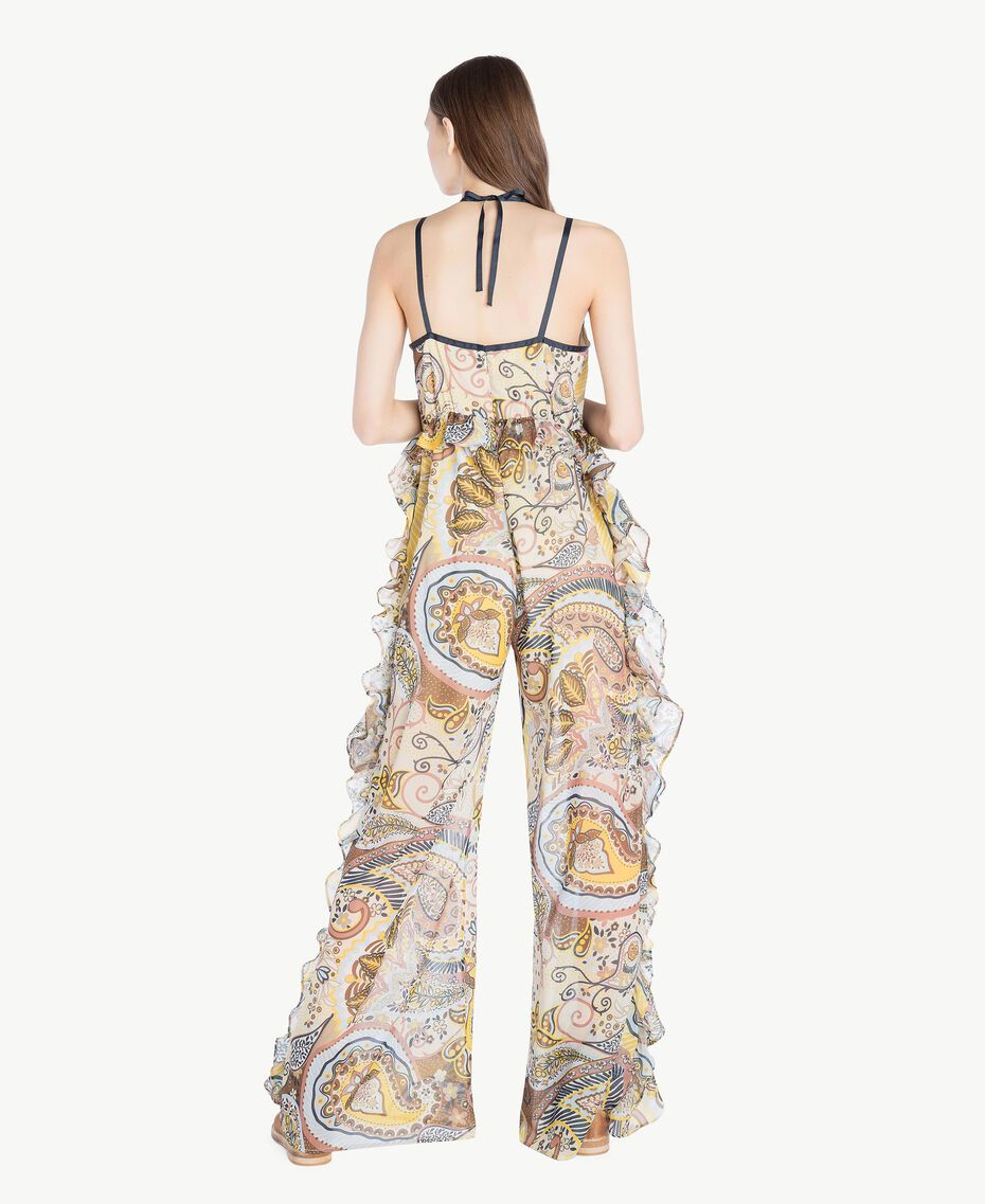 Printed jumpsuit Paisley Print Woman SS82MF-03