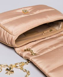Nylon shoulder bag with chain and charms Camel Woman AA8PFC-04