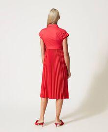 """Irena"" poplin long dress with pleats ""Coral Kiss"" Red Woman 211MT2092-04"