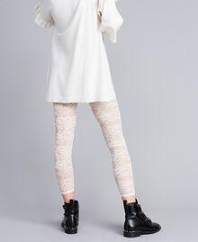 Legging en dentelle Nacre Femme JA82GD-04