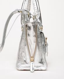 Leather Rebel shopping bag with pocket Titanium Gray Woman 201TA723Z-02