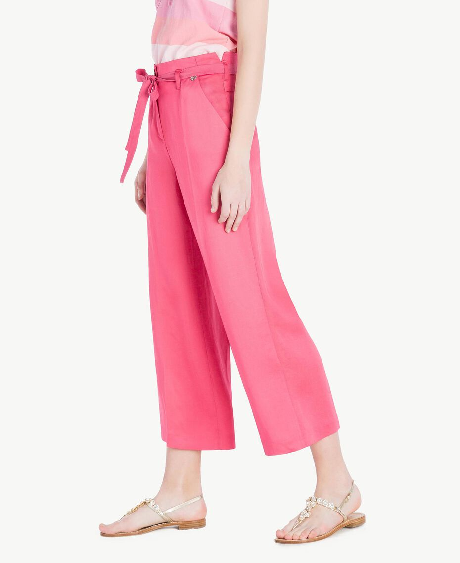 Envers satin trousers Provocateur Pink Woman TS823P-02