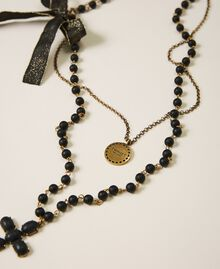 """Necklace with charm, cross and bow """"Nude"""" Beige Woman 202TA4315-01"""