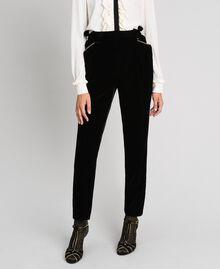 Pantalon en velours Noir Femme 192TT2420-01