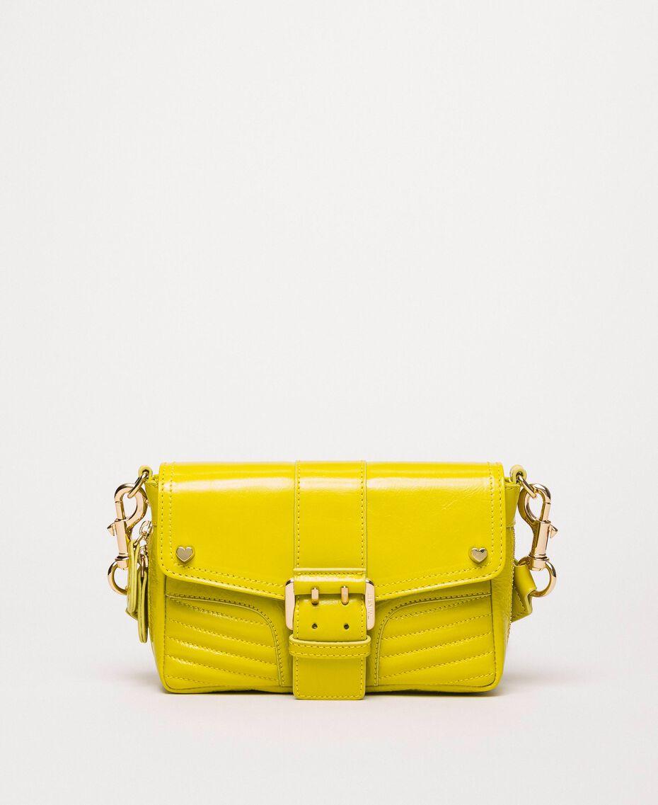 Kleine Rebel Bag mit Logotrageriemen Lime Gelb Frau 201TO823U-02