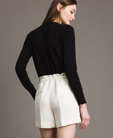 Linen blend shorts White Snow Woman 191TP2205-05