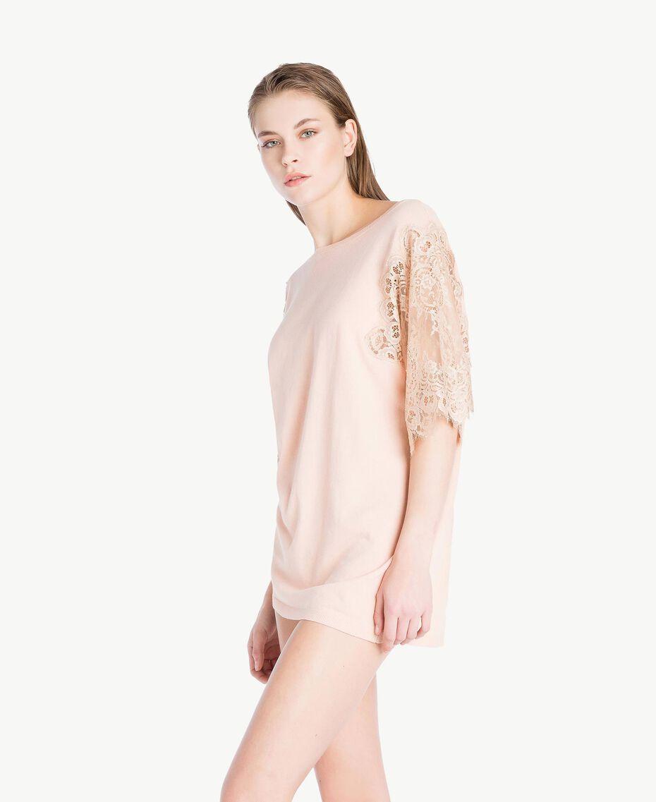 "Cotton maxi jumper ""Peach Powder"" Pink Woman LS8CCC-03"