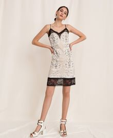 Lace slip dress with embroidery Ivory Woman 201TP2463-0T