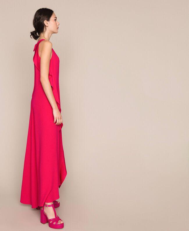 Long dress with frills Black Cherry Woman 201TP2434-04