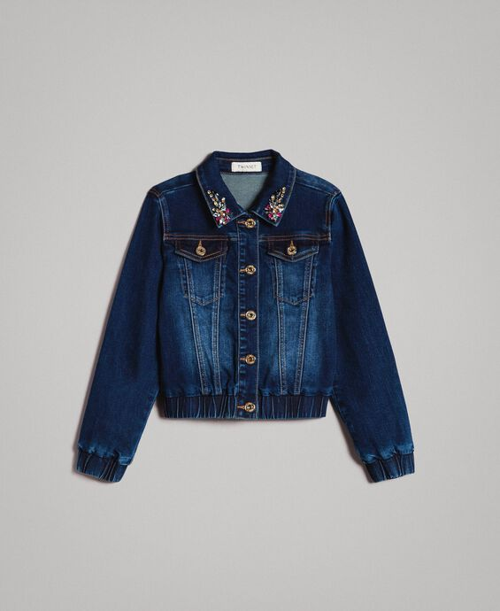 Denim jacket with stones