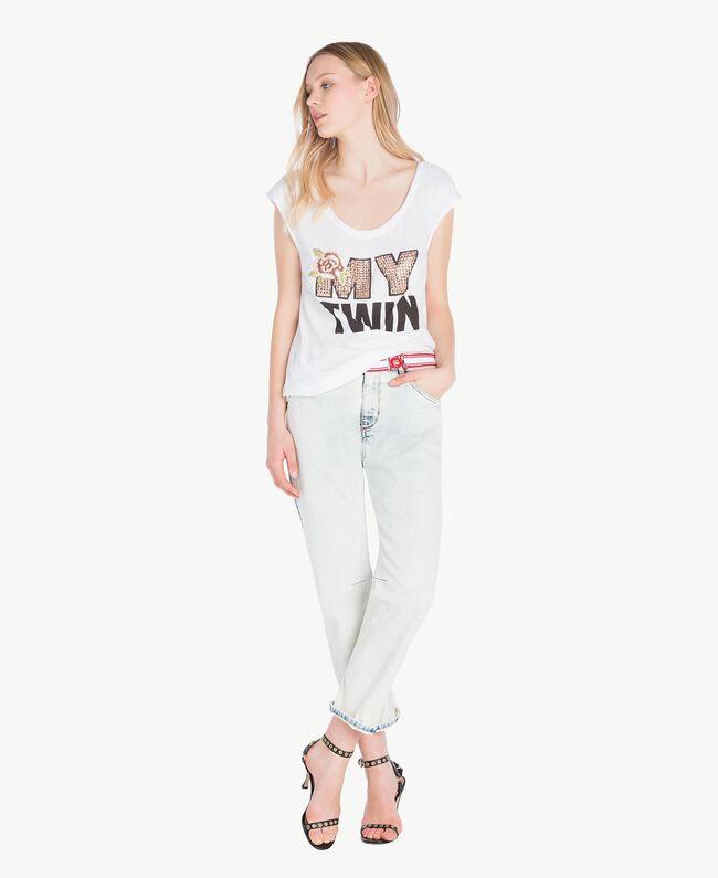 Girlfriend jeans Denim Blue Woman YS82XZ-05