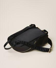 Twinset Bag im Rucksackformat aus Satin Schwarz Frau 202TB7201-03