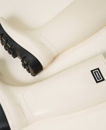 Stivali da pioggia con logo Bianco Panna Donna 202TCP210-02